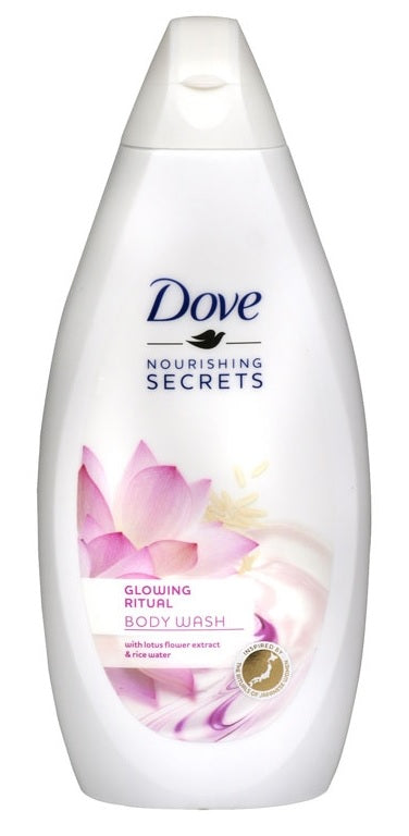 Dove Glowing Ritual Lotus Flower Extract & Rice Water Body Wash, 500ml