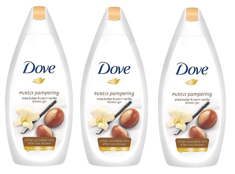 Dove Shea Butter & Vanilla Body Wash, 500ml (Pack of 3)