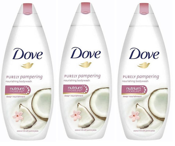 Dove Purely Pampering Coconut Milk & Jasmine Petals Body Wash, 500ml (Pack of 3)