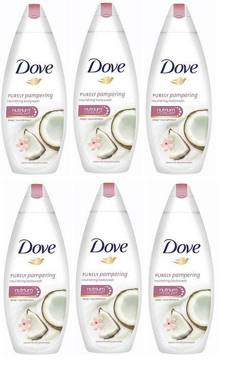 Dove Purely Pampering Coconut Milk & Jasmine Petals Body Wash, 500ml (Pack of 6)