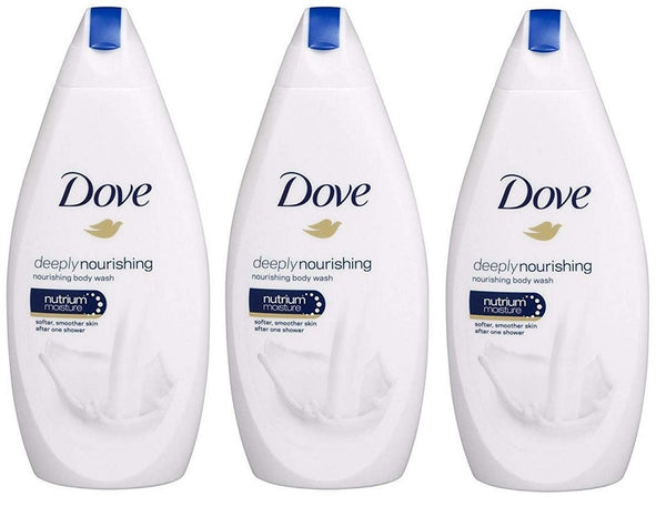 Dove Deeply Nourishing Body Wash, 500ml (Pack of 3)