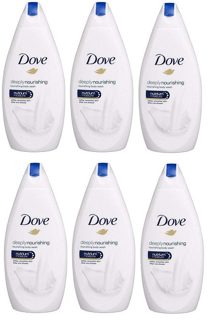 Dove Deeply Nourishing Body Wash, 500ml (Pack of 6)
