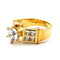 2-ct 14 KT Gold Filled Cubic Zirconia Engagement Ring - Size 8
