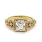 14 KT Gold Filled Cubic Zirconia Engagement Ring - Size 6