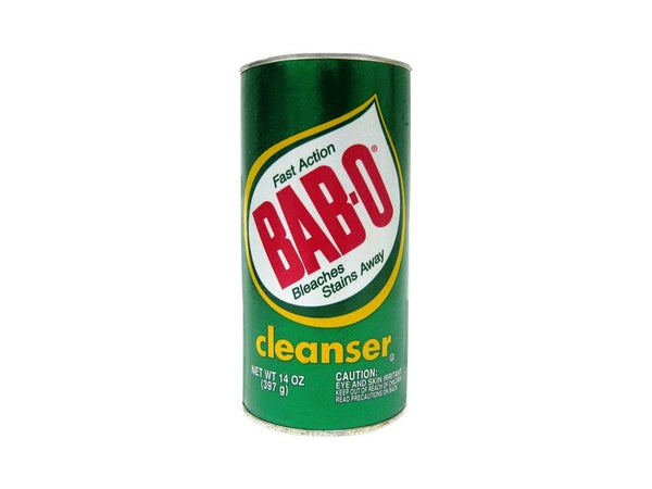 Bab-O Cleaner Fast Action Bleaches Stains Away, 14 oz.