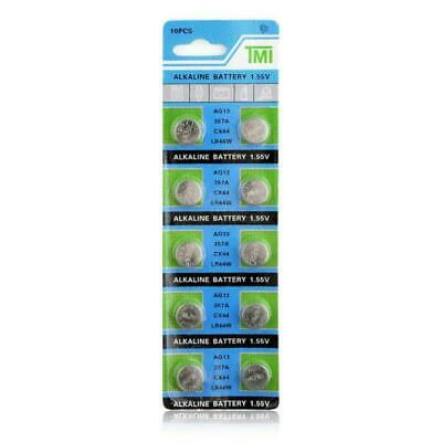 T&E AG13 357A CX44 LR44W 1.55V Alkaline Battery, 10 Ct.
