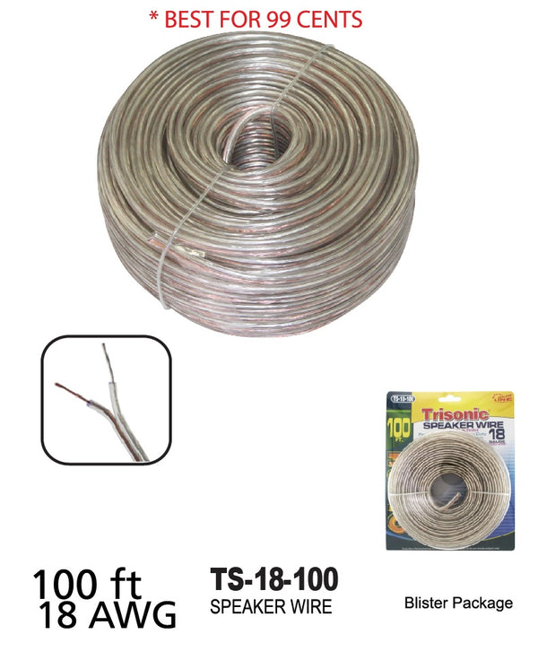 Speaker Wire 18 Gauge, 100 ft.