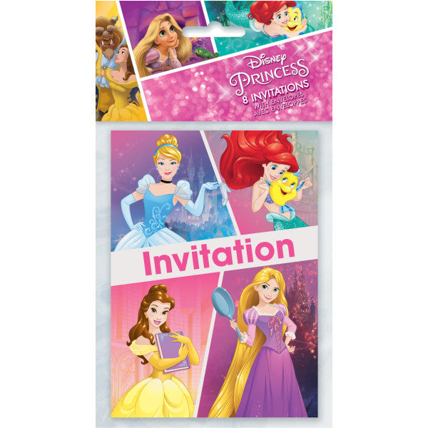 Disney Princess Dream Big Invitations, 8ct