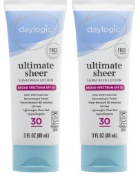 Daylogic Ultimate Sheer Sunscreen Lotion SPF 30, 3.0 oz (EXP 4/20) (Pack of 2)
