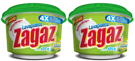 Antibacterial Lavaplatos Zagaz Citrus Power, 425g (Pack of 2)