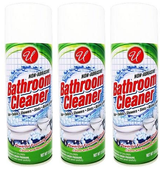 Bathroom Cleaner Powerful Foaming Action, 13 oz. (Pack of 3)