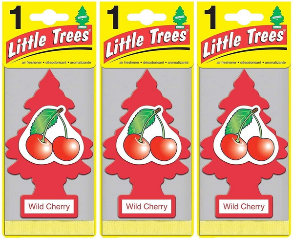 Little Trees Wild Cherry Air Freshener, 1 ct. (Pack of 3)