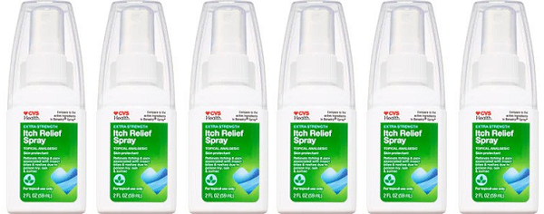 CVS Health Extra Strength Itch Relief Spray 2 oz. (EXP 07/20) (Pack of 6)