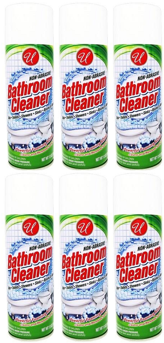 Bathroom Cleaner Powerful Foaming Action, 13 oz. (Pack of 6)