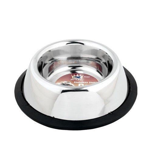 Stainless Steel Dog or Cat Bowl with Rubber Bottom, 1-ct.