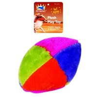 Plush Play Dog Toy Colored Ball, 1-ct.