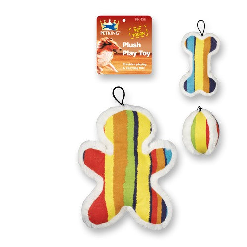 Plush Play Dog Toy Colorful, 1-ct.