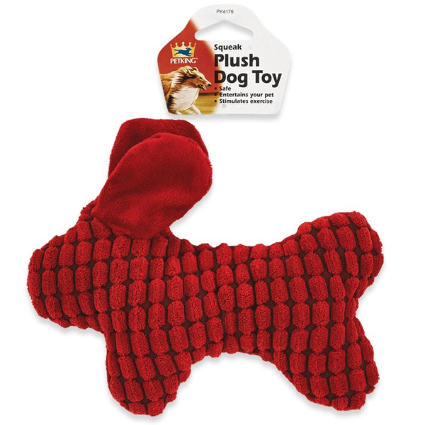 Squeak Plush Play Dog Toy Animal Shape, 1-ct.