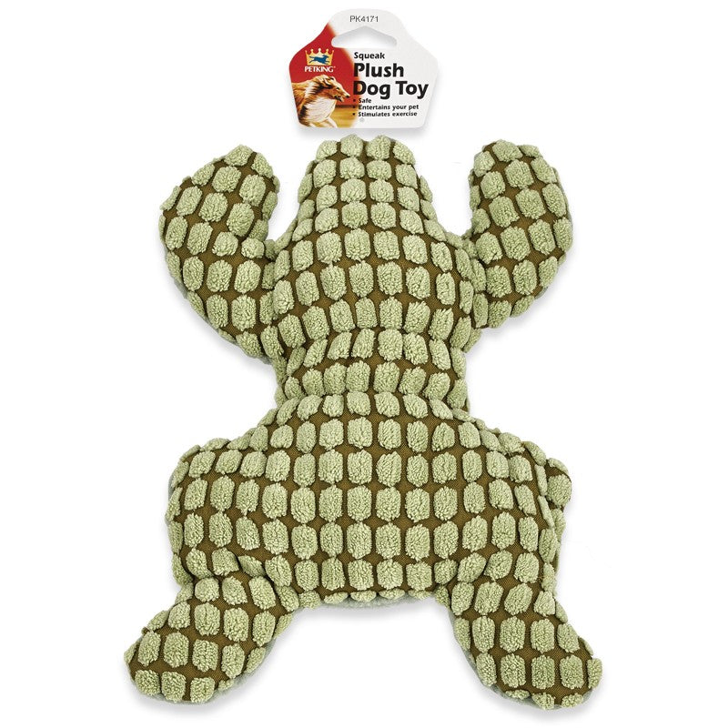 Squeak Plush Play Dog Toy Frog Lizard Design, 1-ct.