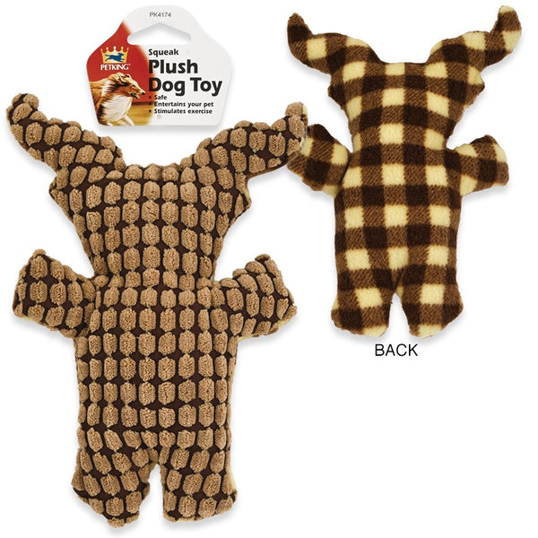Squeak Plush Play Dog Toy Bull Design, 1-ct.