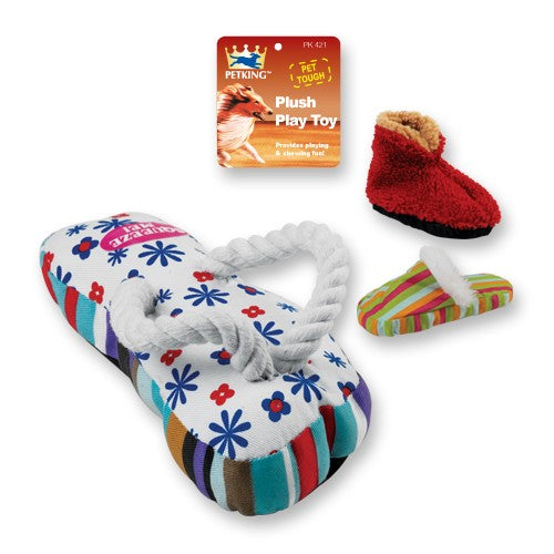 Plush Play Dog Toy Shoes and Slippers, 1-ct.