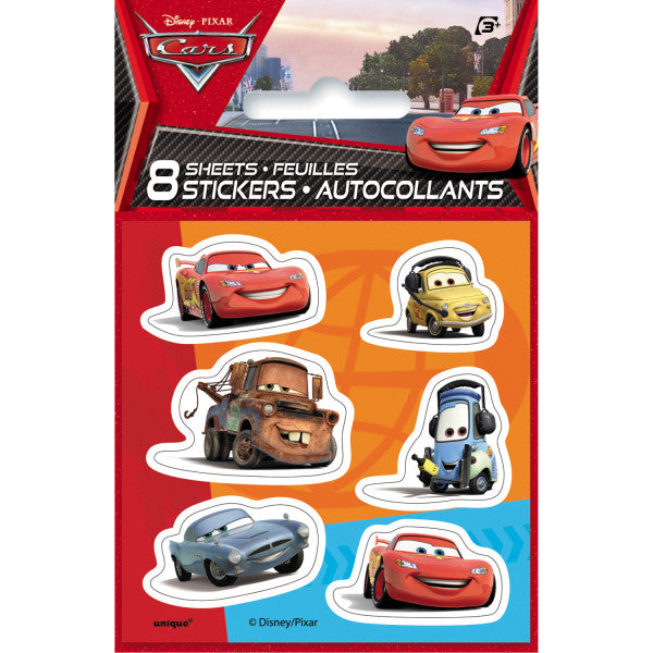 Disney Cars Sticker Sheets, 8ct