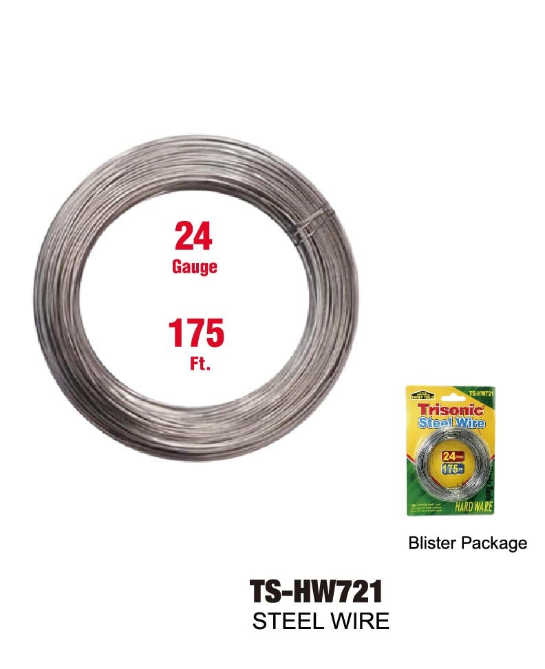 Steel Wire 24 Gauge, 175 ft.