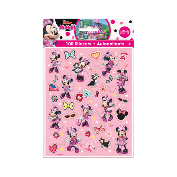 Disney Iconic Minnie Mouse Stickers, 100ct