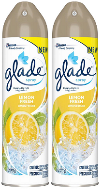 Glade Spray Lemon Fresh Air Freshener, 8 oz (Pack of 2)