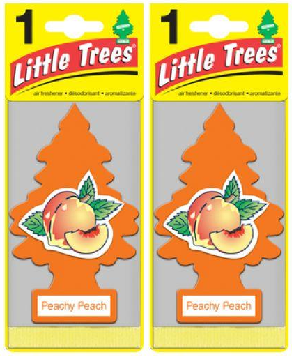 Little Trees Peachy Peach Air Freshener, 1 ct. (Pack of 2)