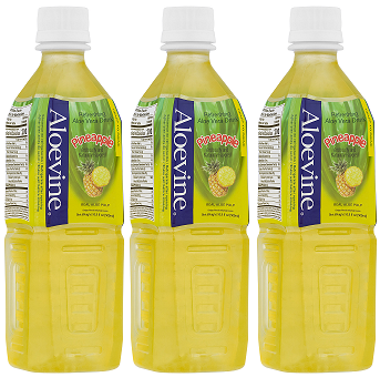 Aloevine Pineapple Drink, 500 ml (Pack of 3)