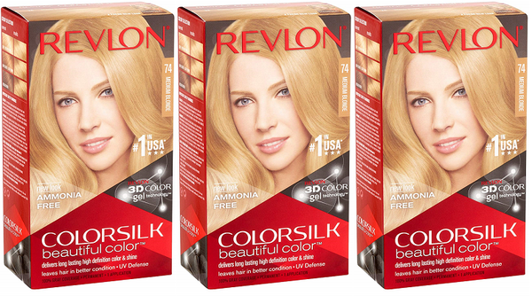 Revlon ColorSilk Beautiful Color™ Hair Color - 74 Medium Blonde (Pack of 3)