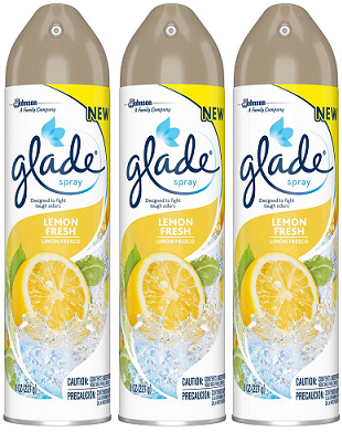Glade Spray Lemon Fresh Air Freshener, 8 oz (Pack of 3)