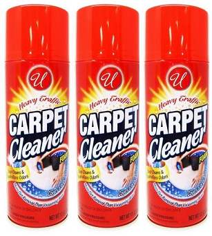 Heavy Traffic Carpet Cleaner Foam, 13 oz. (Pack of 3)
