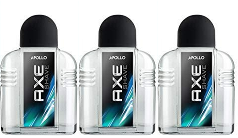 Axe Apollo Vitalising Aftershave, 100ml (Pack of 3)