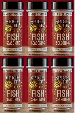 Spice It Family Size Fish Seasoning, 4.75 oz (Pack of 6)