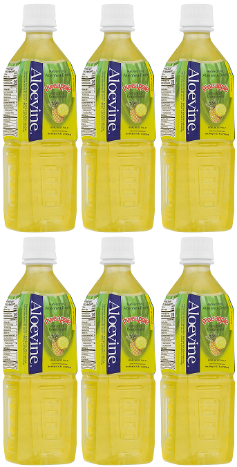 Aloevine Pineapple Drink, 500 ml (Pack of 6)