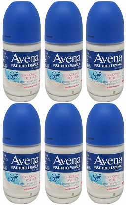 Avena Instituto Esspanol Soft Deodorant Roll On, 75ml (Pack of 6)
