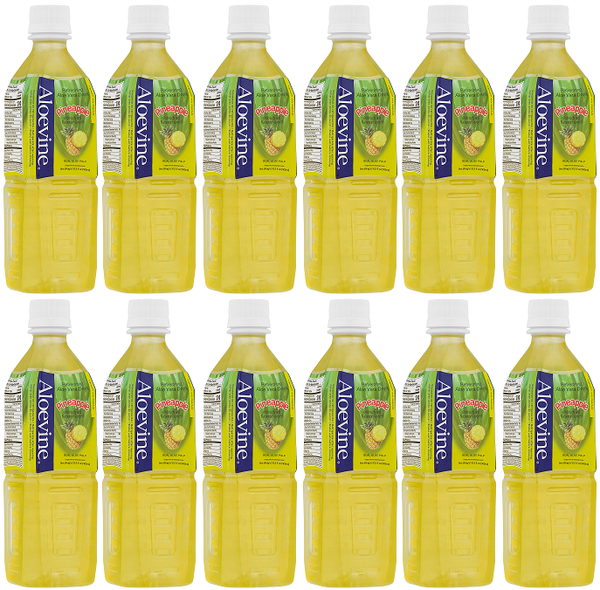 Aloevine Pineapple Drink, 500 ml (Pack of 12)