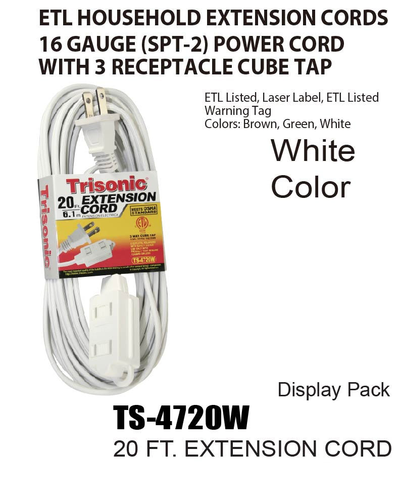 Extension Cord, 20 ft.