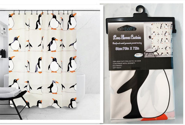"Penguin Design Peva Shower Curtain 70""x72"", 1-ct"