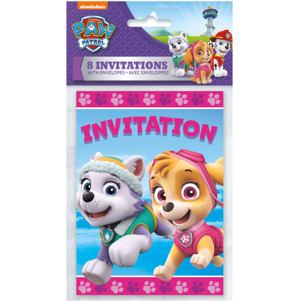 Paw Patrol Girl Invitations, 8ct