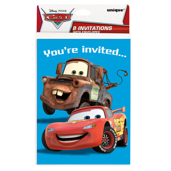 Disney Cars Invitations, 8ct