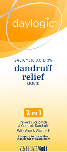 Daylogic Salicylic Acid 3% Dandruff Relief Liquid, 2.5 oz (EXP 6/20)
