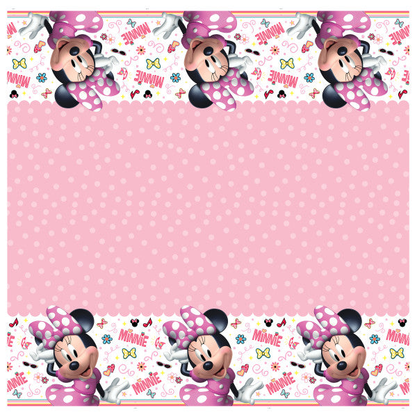 "Disney Iconic Minnie Mouse Rectangular Plastic Table Cover, 54""x84"""