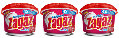 Antibacterial Lavaplatos Zagaz Frutos Rojos, 425g (Pack of 3)