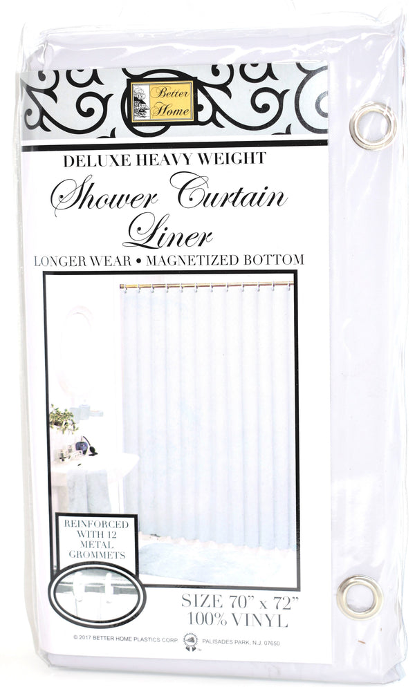 "Deluxe Heavy Weight 100% Vinyl Shower Curtain Liner 70"" x 72"", Grey Color"