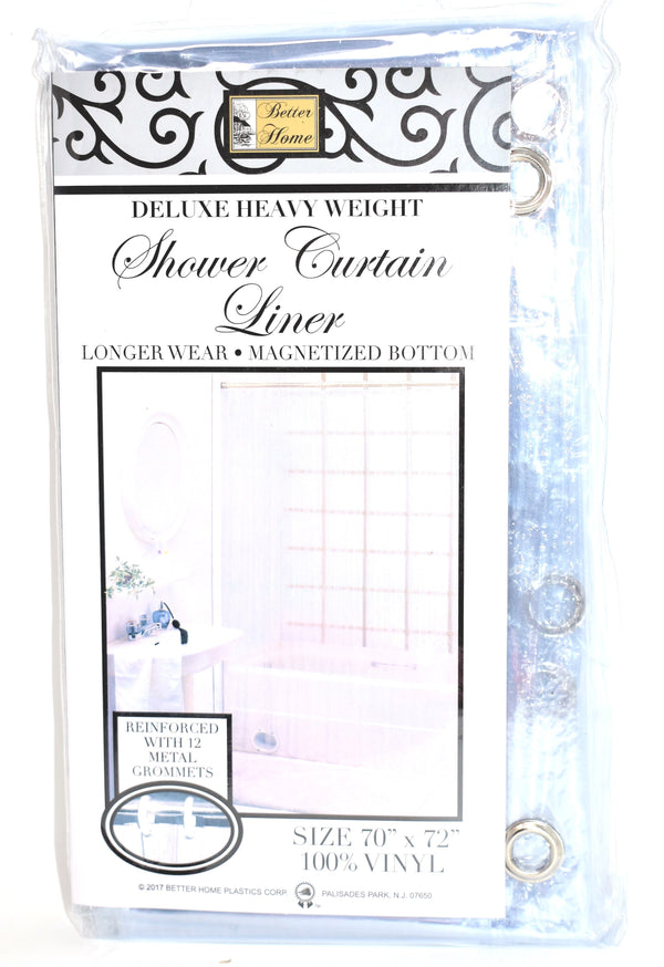 "Deluxe Heavy Weight 100% Vinyl Shower Curtain Liner 70"" x 72"", Super Clear Color"