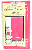 "Deluxe Heavy Weight 100% Vinyl Shower Curtain Liner 70"" x 72"", Berry Red Color"