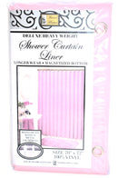 "Deluxe Heavy Weight 100% Vinyl Shower Curtain Liner 70"" x 72"", Pink Color"